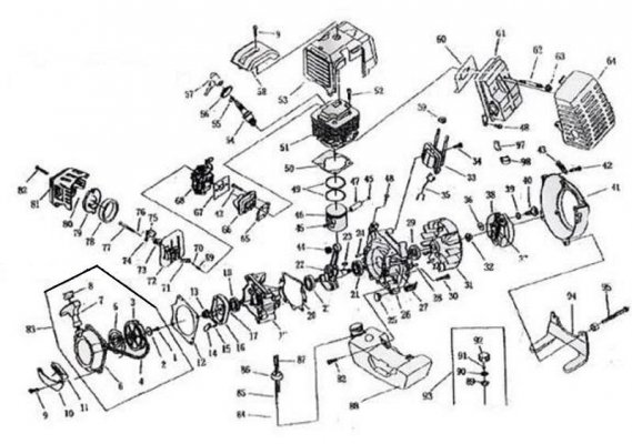 49cc engine diagram spare parts for engines 47cc 49cc engine pocket bike