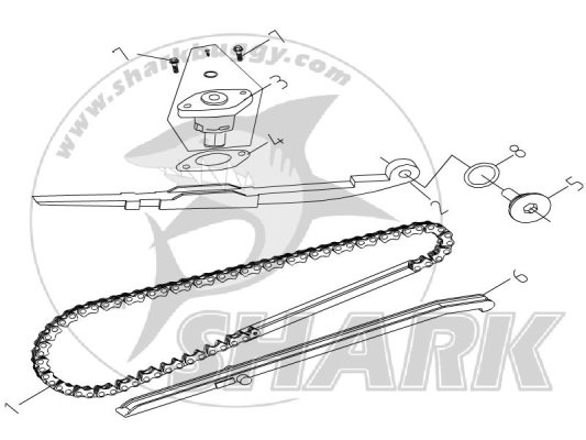 E-5 CAM CHAIN .TENSIONER