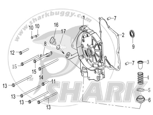 E-7 RIGHT CRANKCASE COVER