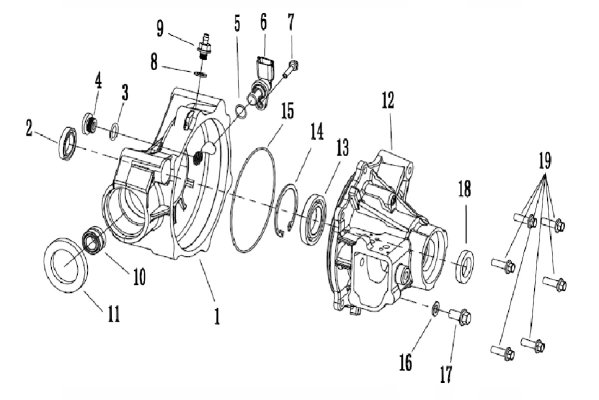 FRONT AXLE HOUSING GROUP