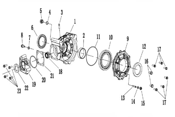 REAR AXLE HOUSING GROUP