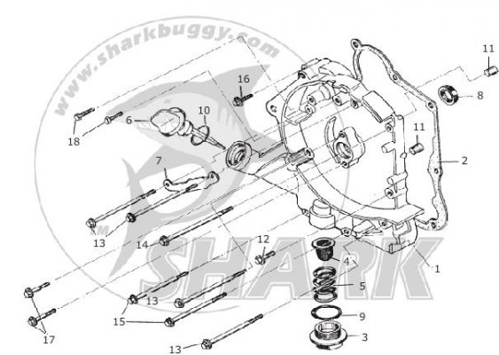 Fig.03 CRANKCASE ASSY. RIGHT