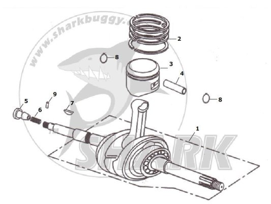 Fig 06 CRANK LINK LEVER & PISTON  172mm and 172mm-A