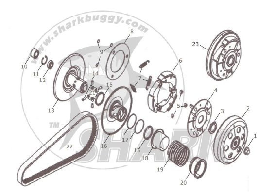 Fig.13 CLUTCH ASSY. 172mm-B and 172mm-C