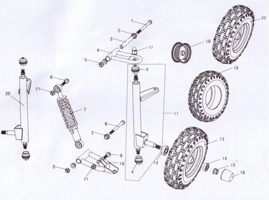 Fig. 19 SUSPENSION ARM ASSY.