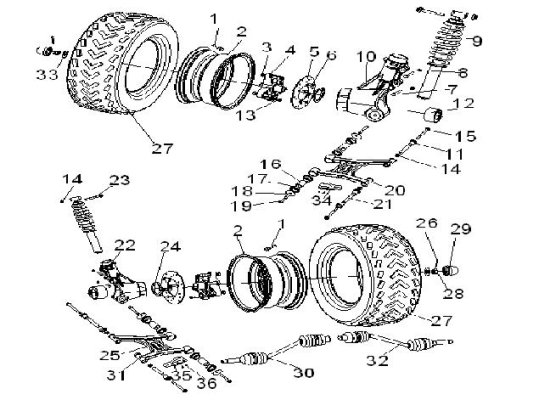 Fig. 5 REAR TIRE SYSTEM
