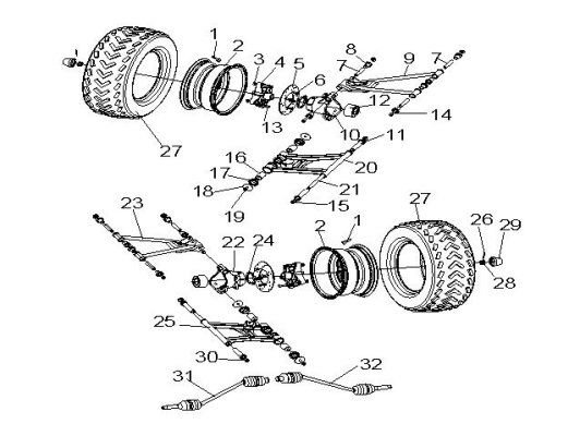 Fig.6 REAR TIRE SYSTEM