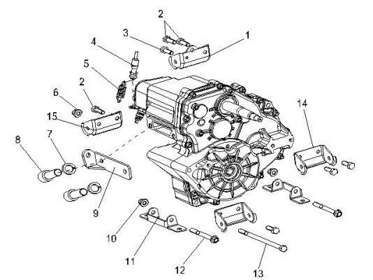 Fig.11 TRANSMISSION BRACKET ASSY