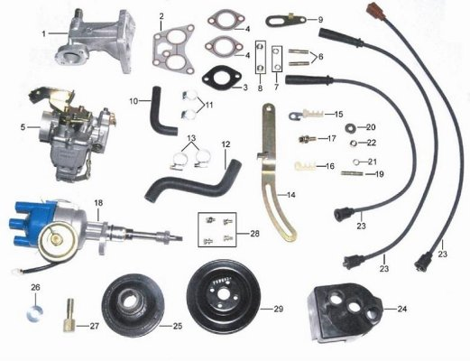 Ignition parts Carburetor Driving pulleys