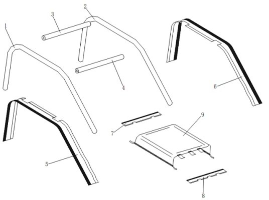 XT-14 ROLL CAGE / AWNING