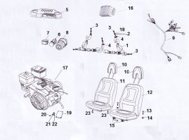 Fig. 23 WIRE HARNESS/ELECTRICAL/ SEAT/ENGINE