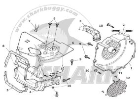 Fig.08 FAN COVER AND SHROUD ASSY. GY6 type 157QMJ