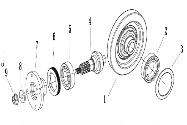 GEARSHIFT GROUP (FRONT AXLE)
