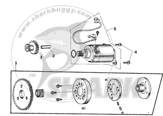 Fig.13 ELECTRIC STARTER ASSY.