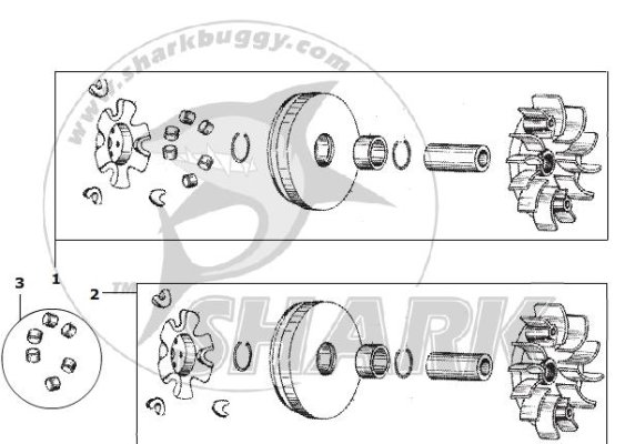 Fig.14 DRIVE PULLEY SUBASSY. GY6 Typ 157QMJ