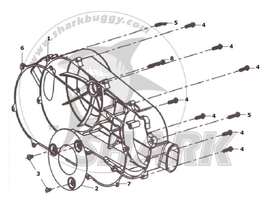 Fig.09 LEFT SIDE COVER ASSY. 172mm-B and 172mm-C