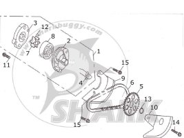 Fig.12 OIL PUMP ASSY. 172mm-B and 172mm-C