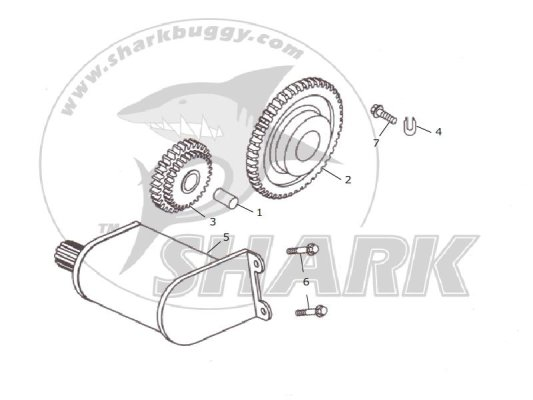 Fig 14 ELEWCTRIC STARTER ASSY.  172mm and 172mm-A