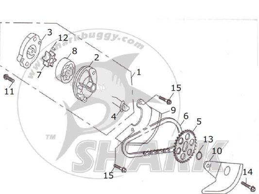 Fig 12 OIL PUMP ASSY.  172mm and 172mm-A