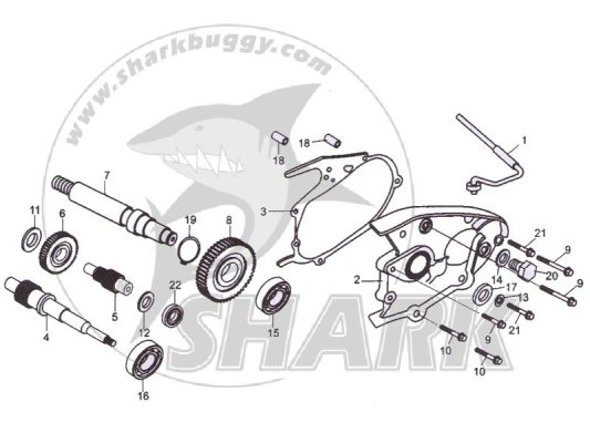 Fig 15 TRANSMISSION ASSY.  172mm and 172mm-A