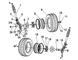 Fig.5 FRONT TIRE SYSTEM