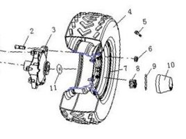 Fig.7 WHEEL FRONT ( 4x2 )