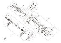 14. COVER, GEARSHIFT - CF800