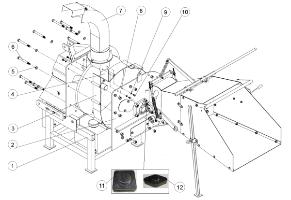 7. Discharge Spout Assembly - GEO ECO 17H