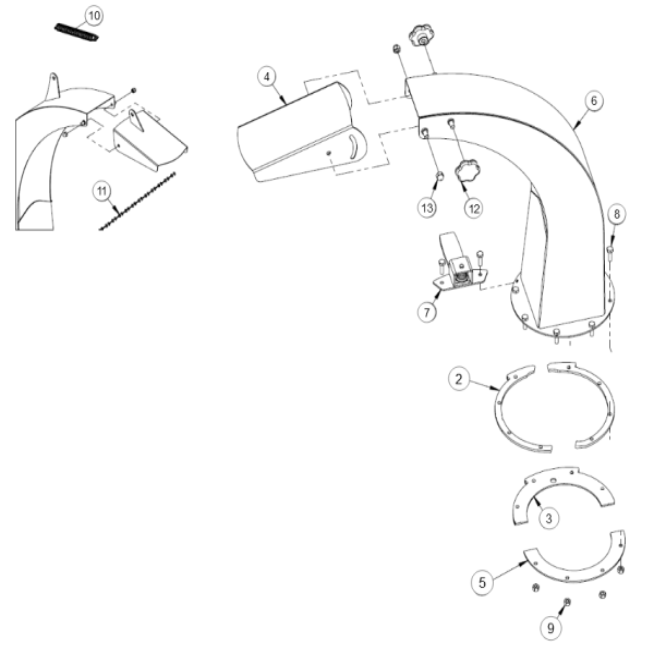 4. Deflector- Discharge Chute - GEO ECO 21