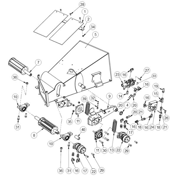 7. Drum- Upper Feed Roller - GEO ECO 21