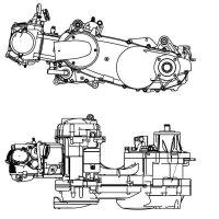 Motor 260cc Typ 170MM komplett (ohne Vergaser und Auspuff).