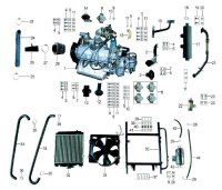 ENGINE  ASSY with Gearbox Kini 1100